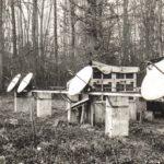 Antennes construites à Marcoussis pour l'observation du Soleil