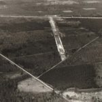 Vue aérienne du site de Nançay (Cher)