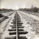 Construction de la voie ferrée