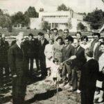 Inauguration du Radiotélescope décimétrique par le général de Gaulle